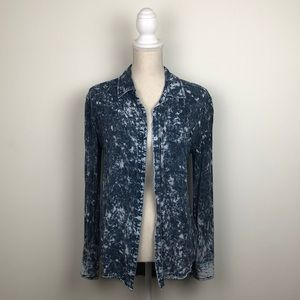 Urban Outfitters Acid Wash Button Down